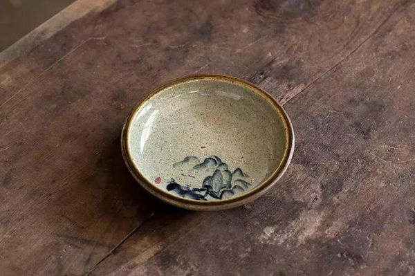 哥窯燒陶壺承 手繪水墨  茶席  哥窯燒陶壺承 手繪水墨  茶席