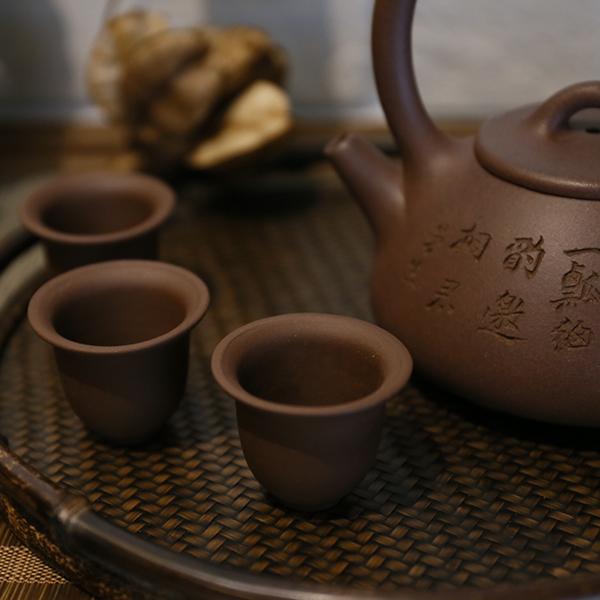 1980末紫砂 風鈴杯 小高杯 喝茶杯子 1980末紫砂 風鈴杯 小高杯 喝茶杯子