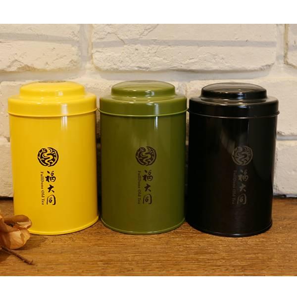 日本製鐵罐 四兩茶罐 收藏茶 茶綠/桔黃/質感黑 日本製鐵罐 四兩茶罐 收藏茶 茶綠/桔黃/質感黑