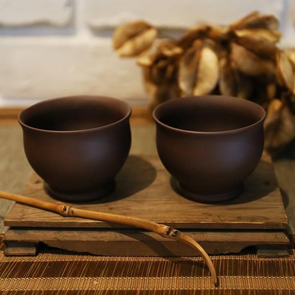 1970年代紫砂 手工拍身筒 喝茶杯子 1970年代紫砂 手工拍身筒 喝茶杯子