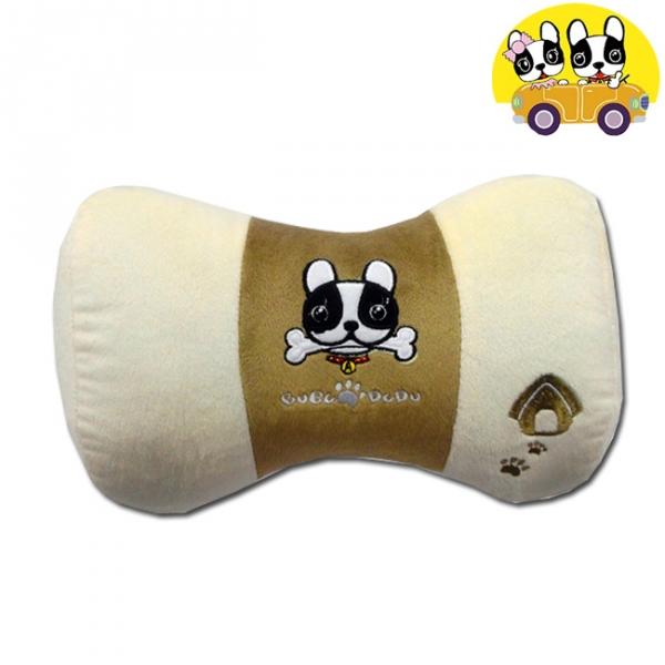 【安伯特】法鬥犬蝴蝶枕 車用頸枕 靠枕 辦公室瞌睡枕 沙發靠枕 卡通圖案