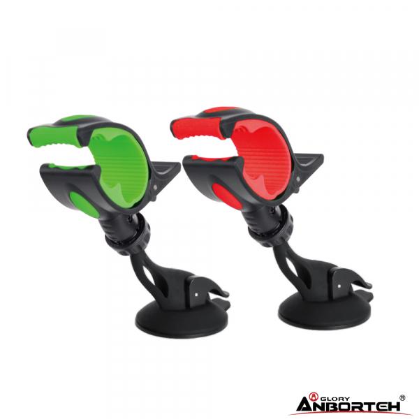 安伯特 簡潔短版鯊魚夾 360度任意調手機支架 雙輪真空吸盤【DouMyGo汽車百貨】