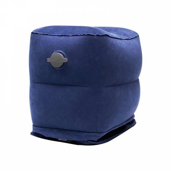 多功能車用/旅行三層充氣墊(附底部防塵收納袋+充氣包) 汽車踏墊 便攜充氣墊 出差腳墊 車用 腳枕 露營 旅行