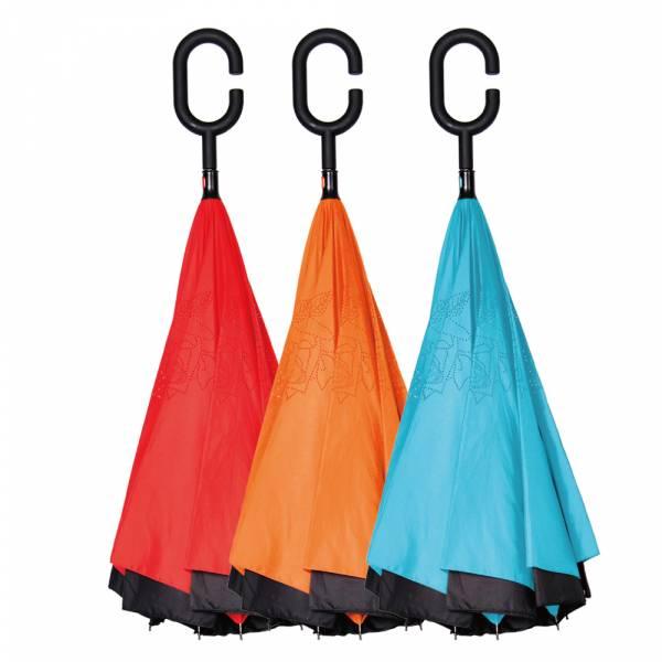 【OMyCar】C型免持雙層反折傘 玻璃纖維反向骨架 高密度防撥水 抗強風【DouMyGo汽車百貨】 C型,免持,雙層,反折傘,玻璃纖維,反向骨架,高密度,防撥水,抗強風