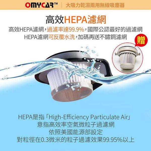 (配件) H-103 大吸力乾濕兩用無線吸塵器專用不鏽鋼濾網+HEPA濾網 汽車吸塵器推薦, 車用手持無線吸塵器, 乾濕兩用吸塵器, HEPA濾網車用吸塵器, 充電汽車吸塵器