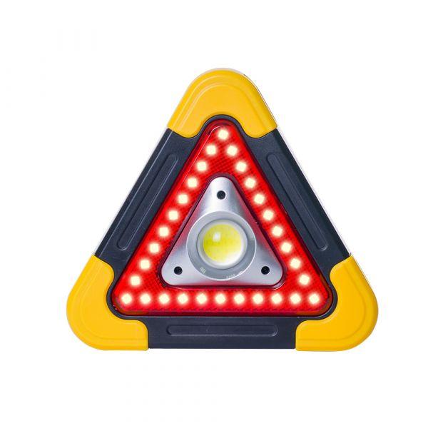 【OMyCar】太陽能LED三角警示燈-附USB充電線 站立/手提兩用 三角架 警示架 露營燈 夜間照明【DouMyGo汽車百貨】