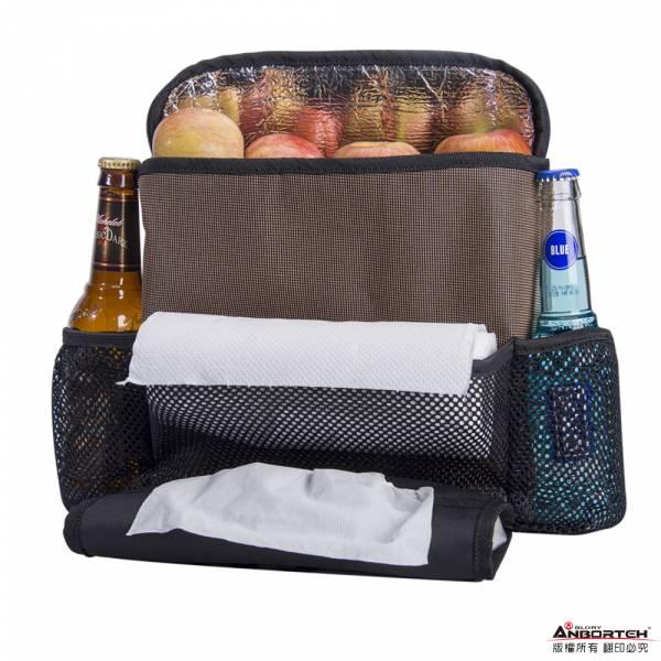 【直播限量優惠】椅背冷熱保溫收納袋 保冷保溫 車用收納 網袋 面紙盒套【DouMyGo汽車百貨】