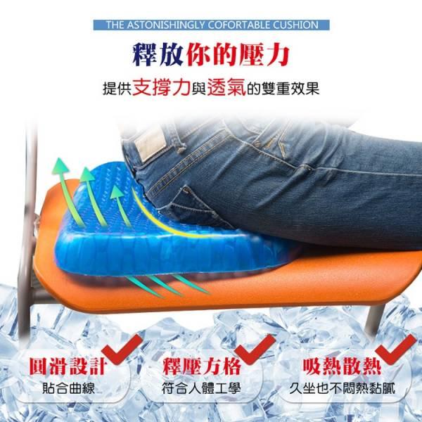 【OMyCar】[升級版]多功能紓壓坐墊(內附-專用防滑椅套)水凝坐墊 透氣涼感【DouMyGo汽車百貨】 升級版,超涼感,水凝坐墊,防滑椅套,透氣,涼感,柔軟升級,可水洗