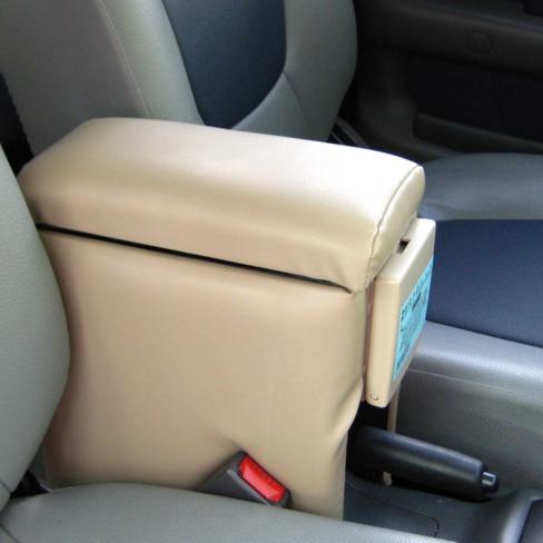 轎車專用中央扶手(米色) 轎車前座扶手置物箱 汽車車用扶手 汽車扶手 飲料架 置物盒