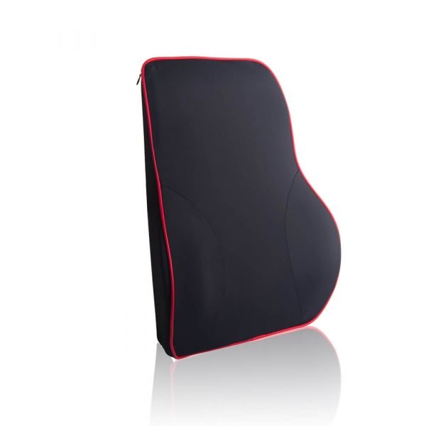 【OMyCar】慢回彈冰絲(舒壓護腰墊)可拆洗 太空記憶棉枕 透氣舒適【DouMyGo汽車百貨】 與惡,慢回彈,頭枕,頸枕,護腰墊