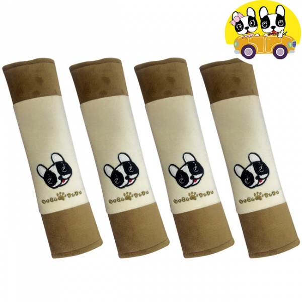 【安伯特】 法鬥犬安全帶護套(4入組)汽車安全帶保護套 保護墊