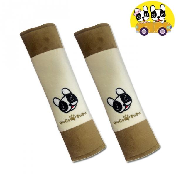 安伯特 法鬥犬安全帶護套(2入組)汽車安全帶保護套 保護墊【DouMyGo汽車百貨】