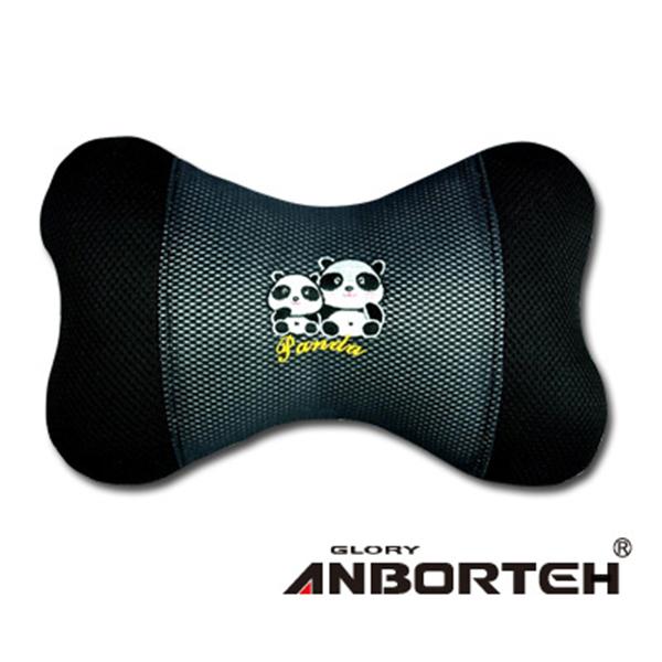 【安伯特】 竹炭熊貓 小骨頭枕(1入) 圓仔 卡通圖案 抱枕 靠枕 腰靠墊 頸枕