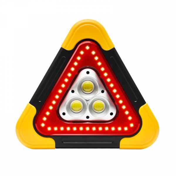 【OMyCar】新一代(加大款)超亮太陽能LED三角警示燈-附USB充電線 站立/手提兩用 故障標誌 警示架 露營燈 夜間照明