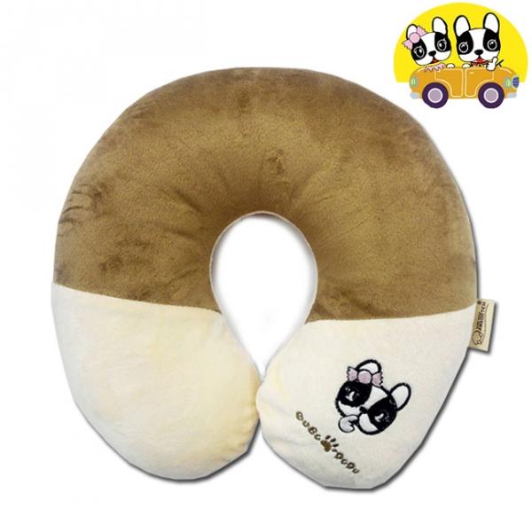 【安伯特】法鬥犬U型枕 頸枕 瞌睡枕 辦公室午睡枕頭 卡通造型圖案【DouMyGo汽車百貨】