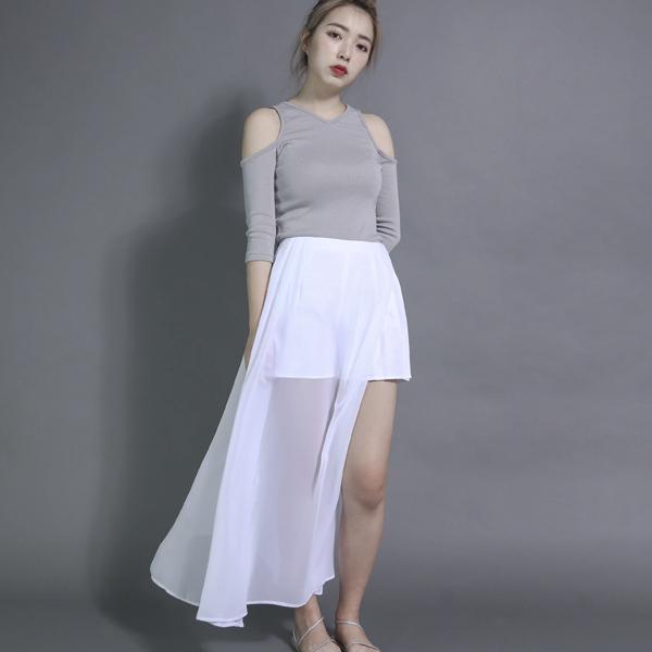 Sagittarius 人馬座薄紗短褲裙_白
