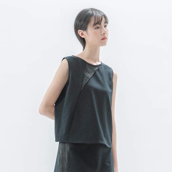 Narrative_敘事拼接背心_丈青