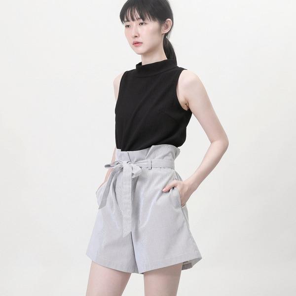 Ruffle_夢迴荷葉短褲_灰白條紋
