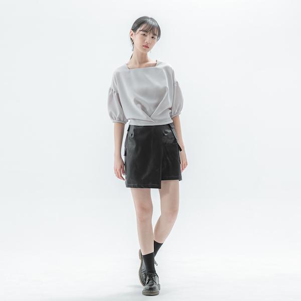 Era_時代褶片裙_黑