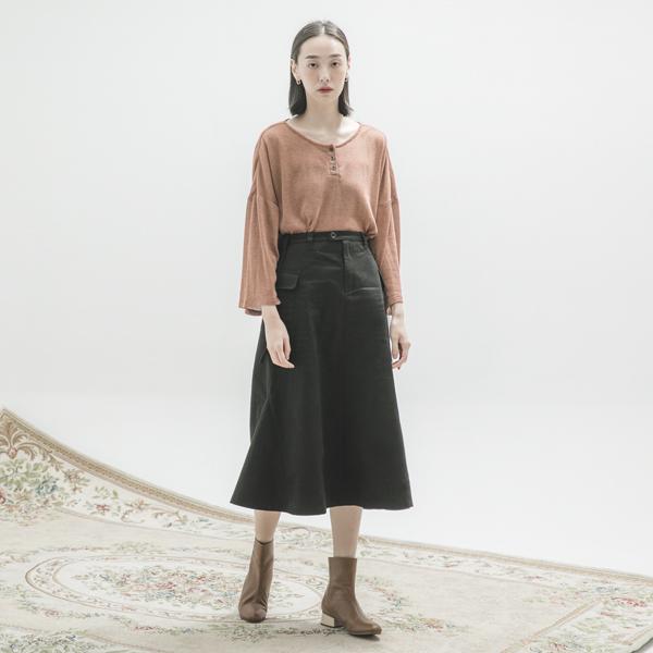 Sandbar_沙洲大口袋裙_黑
