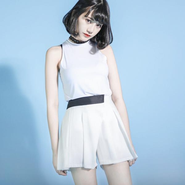 Equation 方程式造型短褲裙_白
