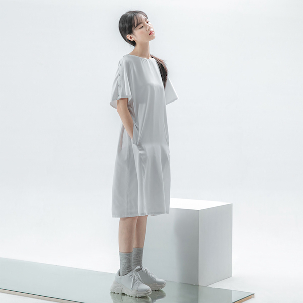 Valley_若谷寬鬆洋裝_白紋