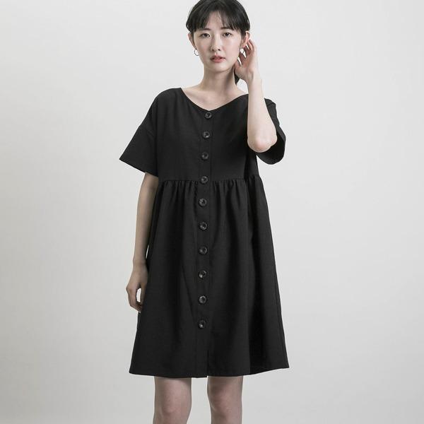 Inciting_悸動開襟洋裝_黑