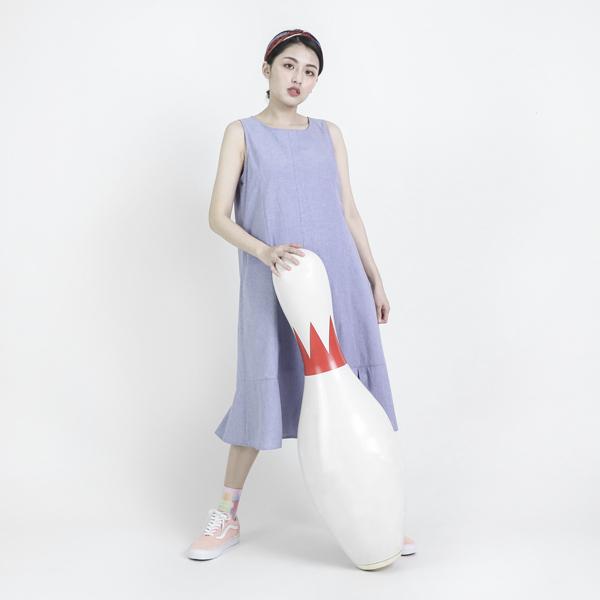 Awareness 意識背心洋裝_藍紫