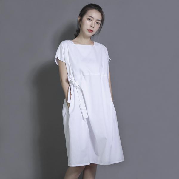 Twilight 暮色綁帶洋裝_白條紋