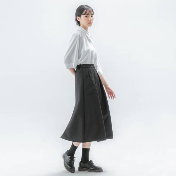 Swaying_搖曳開襟裙_黑