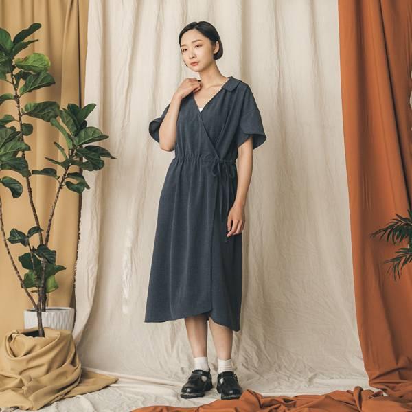 //SUMI x WEARMACAU//  Yanfei_煙霏和服式洋裝_沈思藍