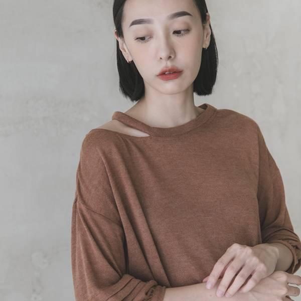 Nostalgia_留戀針織上衣_棕