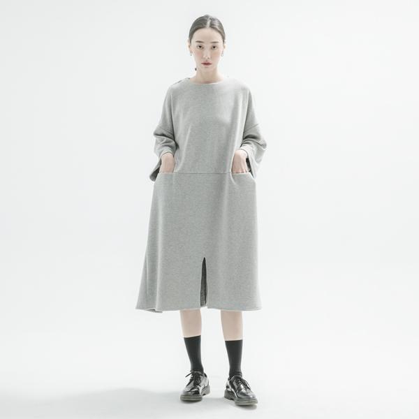 Wanderer_遊子寬鬆洋裝_灰
