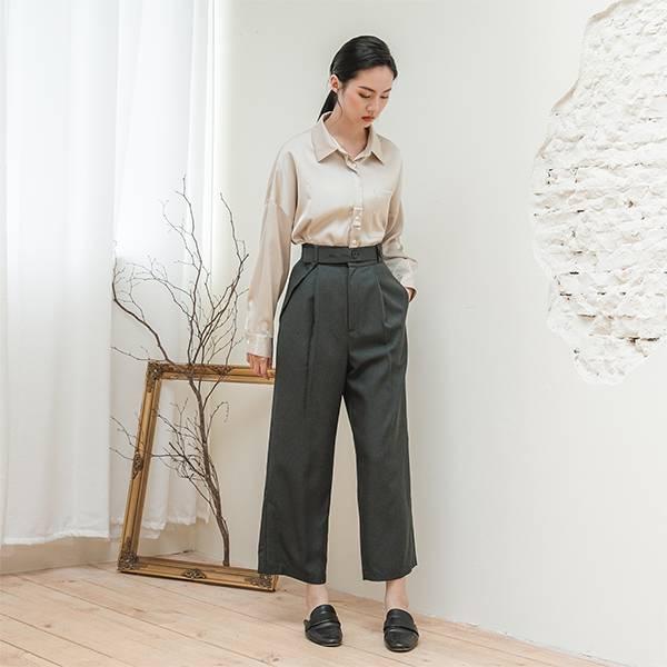 //SUMI x WEARMACAU聯名設計款// Aspire_追尋西裝直筒褲_碳灰