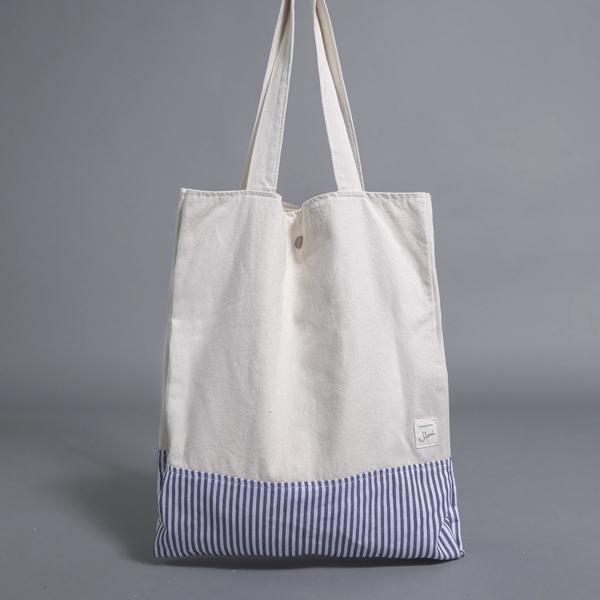 Sailor 水手多層側背包_米白/藍白條紋