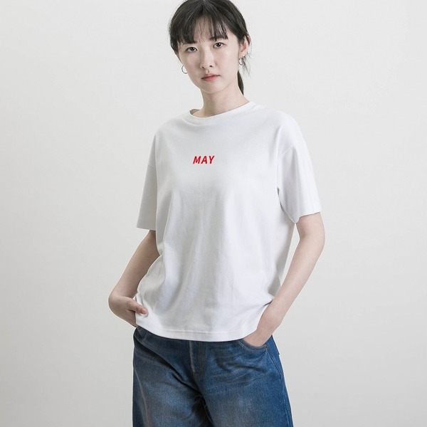 【春夏季3月-8月】誕生月T-shirt_白