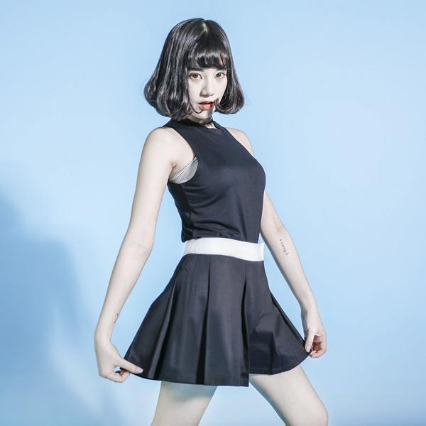 Equation 方程式造型短褲裙_黑