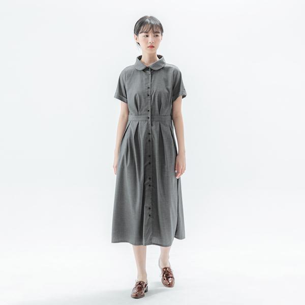 Romance_如織浪漫洋裝_細黑格