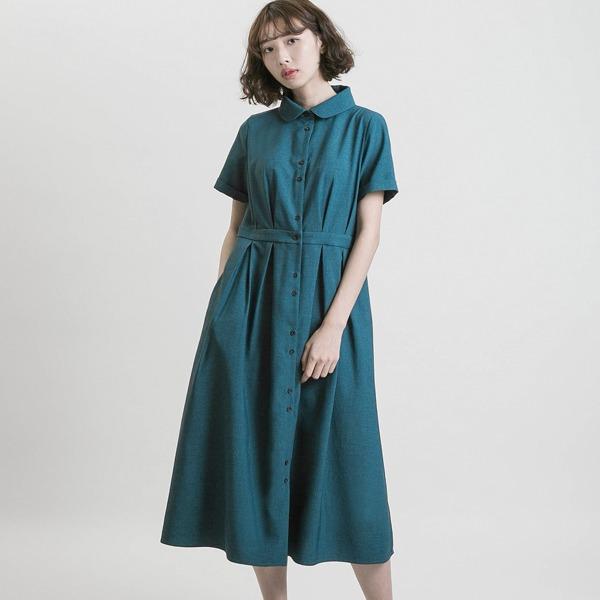 Romance_如織浪漫洋裝_孔雀綠