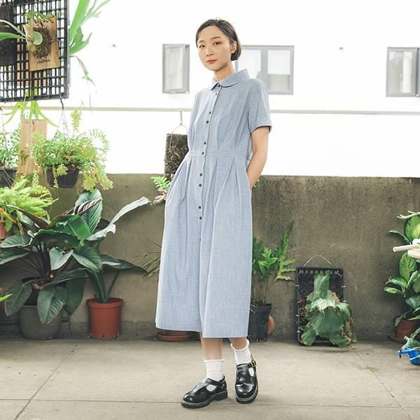Romance_如織浪漫洋裝_勇敢藍