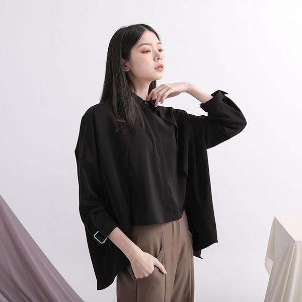 Triangle_三角定律雙層襯衫_黑