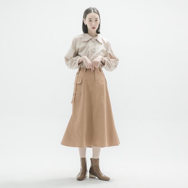 Sandbar_沙洲大口袋裙_棕