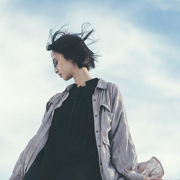 Gentle_風月襯衫洋裝_鐵灰