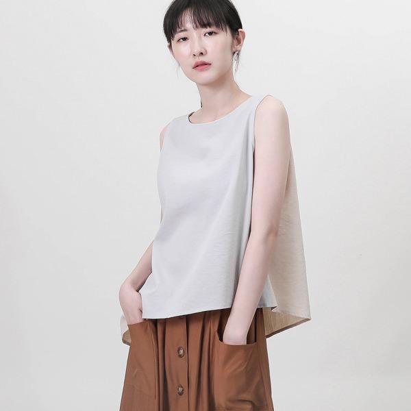 Rove_漂泊不對稱背心_淺灰/裸色