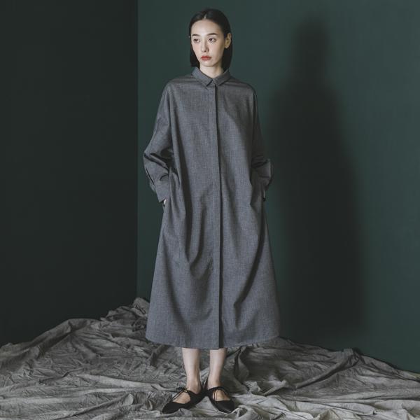 Sequence_序列襯衫洋裝_灰