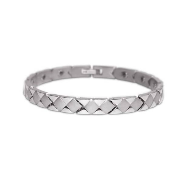 Diamond Checker II - Female Bracelet titanium germanium jewelry,bracelet,chains,bangles,couple bracelet,blood circulation,magnetite,La Jolla,neck strain,shoulder pain,massage,healthy,light, sedentary,prolonged standing,healthy,varices,ge