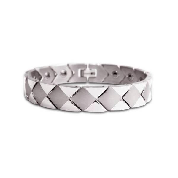 Diamond Checker II - Male Bracelet titanium germanium jewelry,bracelet,chains,bangles,couple bracelet,blood circulation,magnetite,La Jolla,neck strain,shoulder pain,massage,healthy,light, sedentary,prolonged standing,healthy,varices,ge
