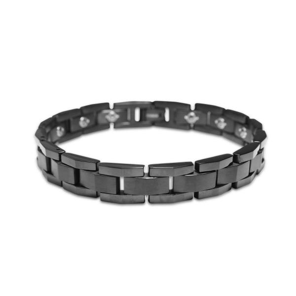 Martini II - Black - Female Bracelet titanium germanium jewelry,bracelet,chains,bangles,couple bracelet,blood circulation,magnetite,La Jolla,neck strain,shoulder pain,massage,healthy,light, sedentary,prolonged standing,healthy,varices,ge