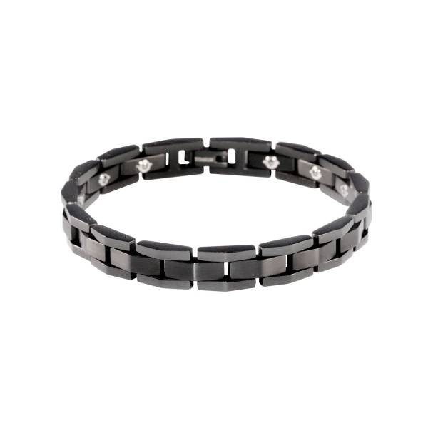 Martini II - Black - Male Bracelet titanium germanium jewelry,bracelet,chains,bangles,couple bracelet,blood circulation,magnetite,La Jolla,neck strain,shoulder pain,massage,healthy,light, sedentary,prolonged standing,healthy,varices,ge