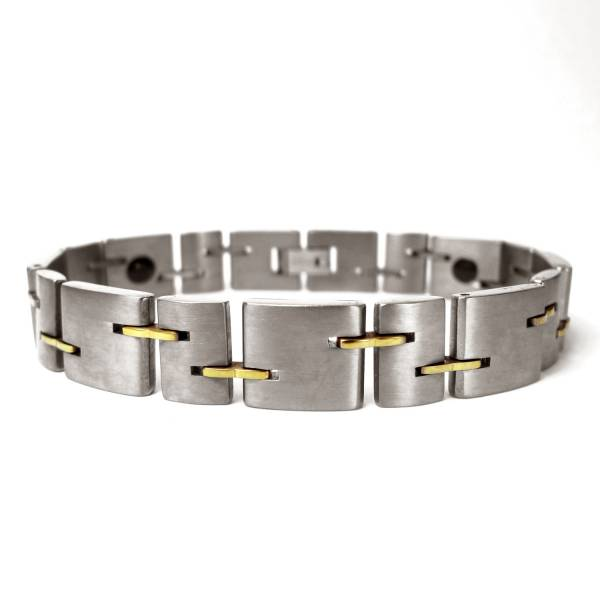 Timespinner - 18K Gold -  Male Bracelet titanium germanium jewelry,bracelet,chains,bangles,couple bracelet,blood circulation,magnetite,La Jolla,neck strain,shoulder pain,massage,healthy,light, sedentary,prolonged standing,healthy,varices,ge